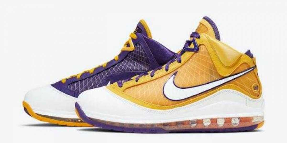Best Basketball Shoes Nike LeBron 7 Lakers for Online Sale